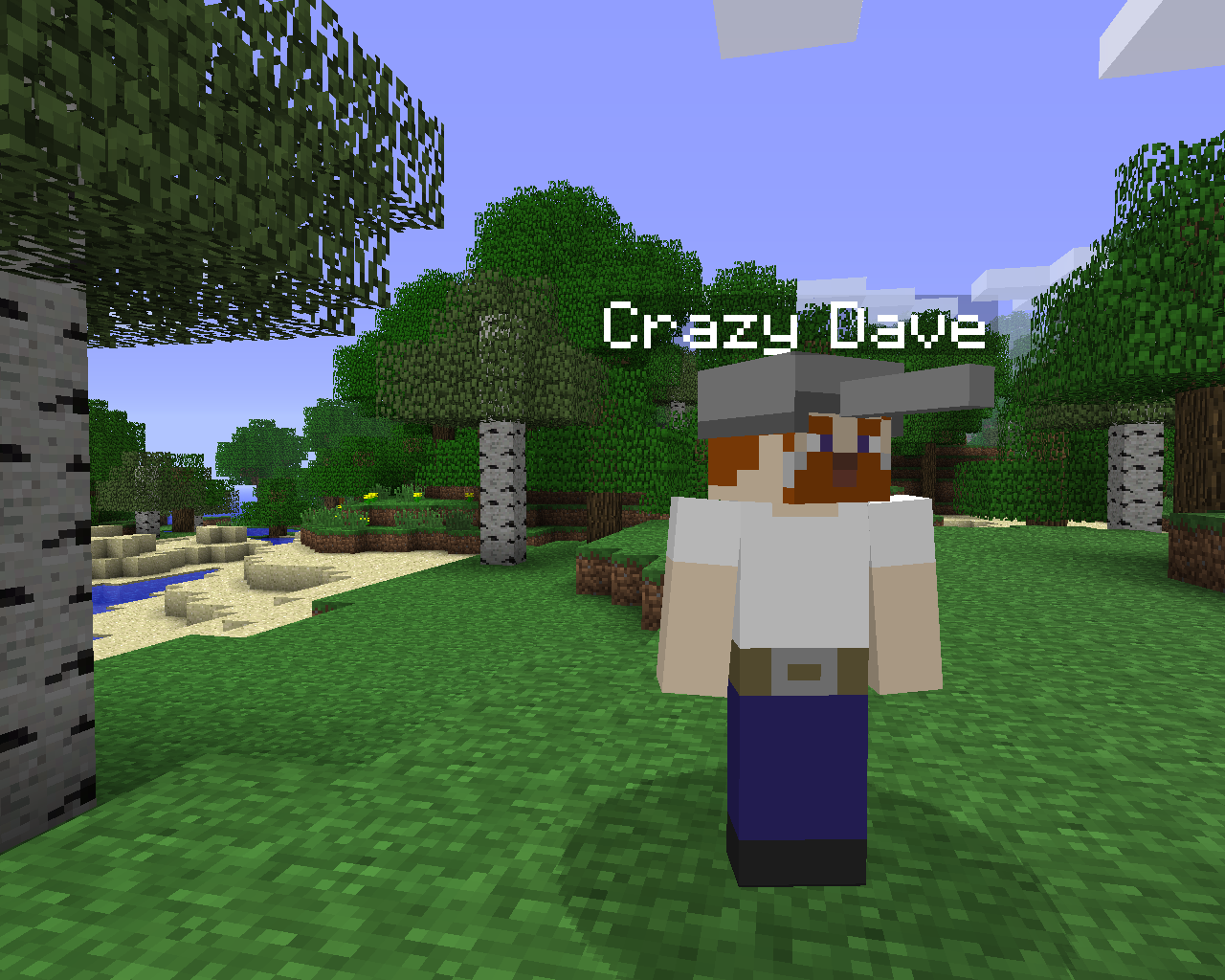 Crazy Dave Image Plants Vs Zombies Mod For Minecraft