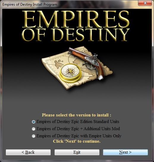 Empire launcher options