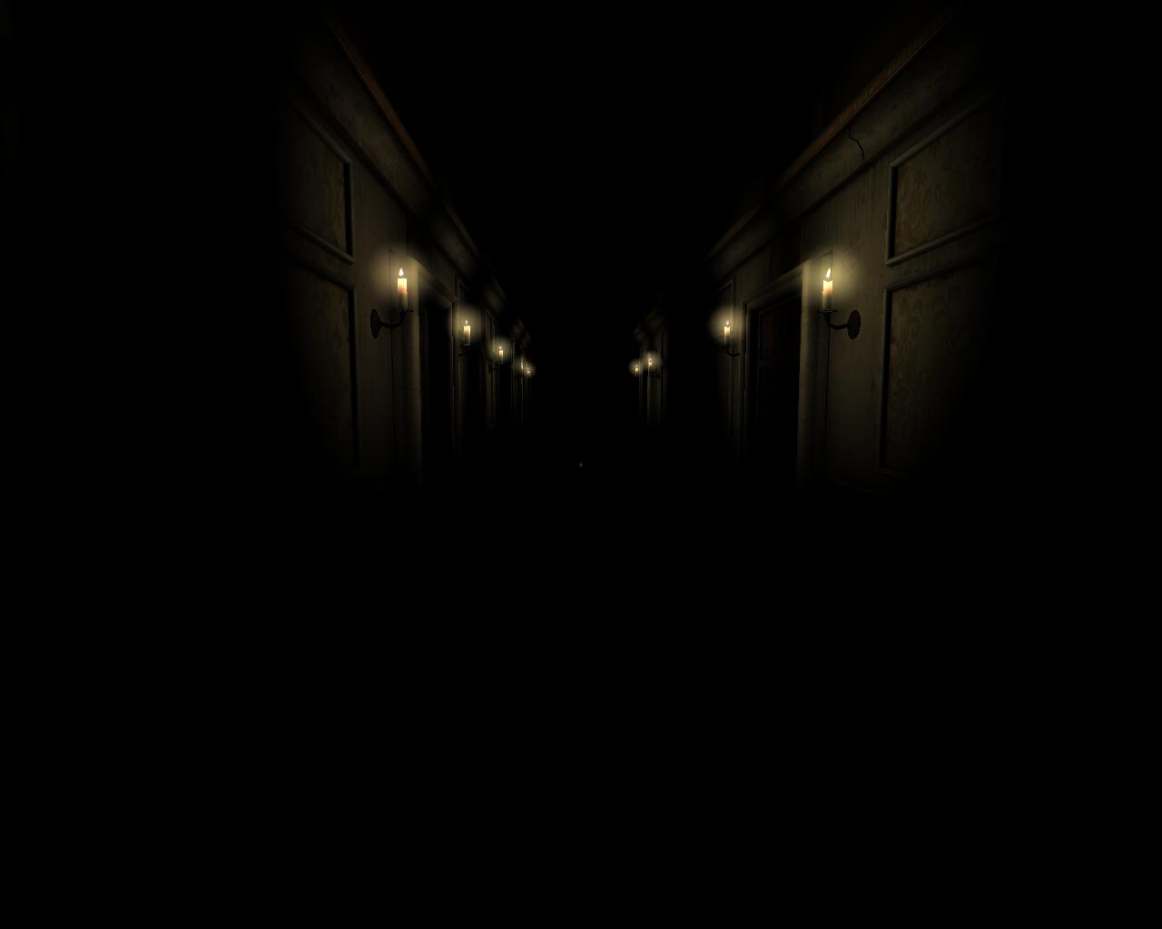 Add media Report RSS One dark hallway view original