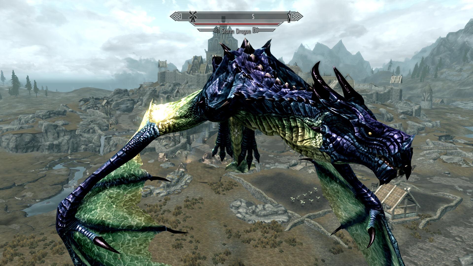 Скачать skyrim deadly dragons