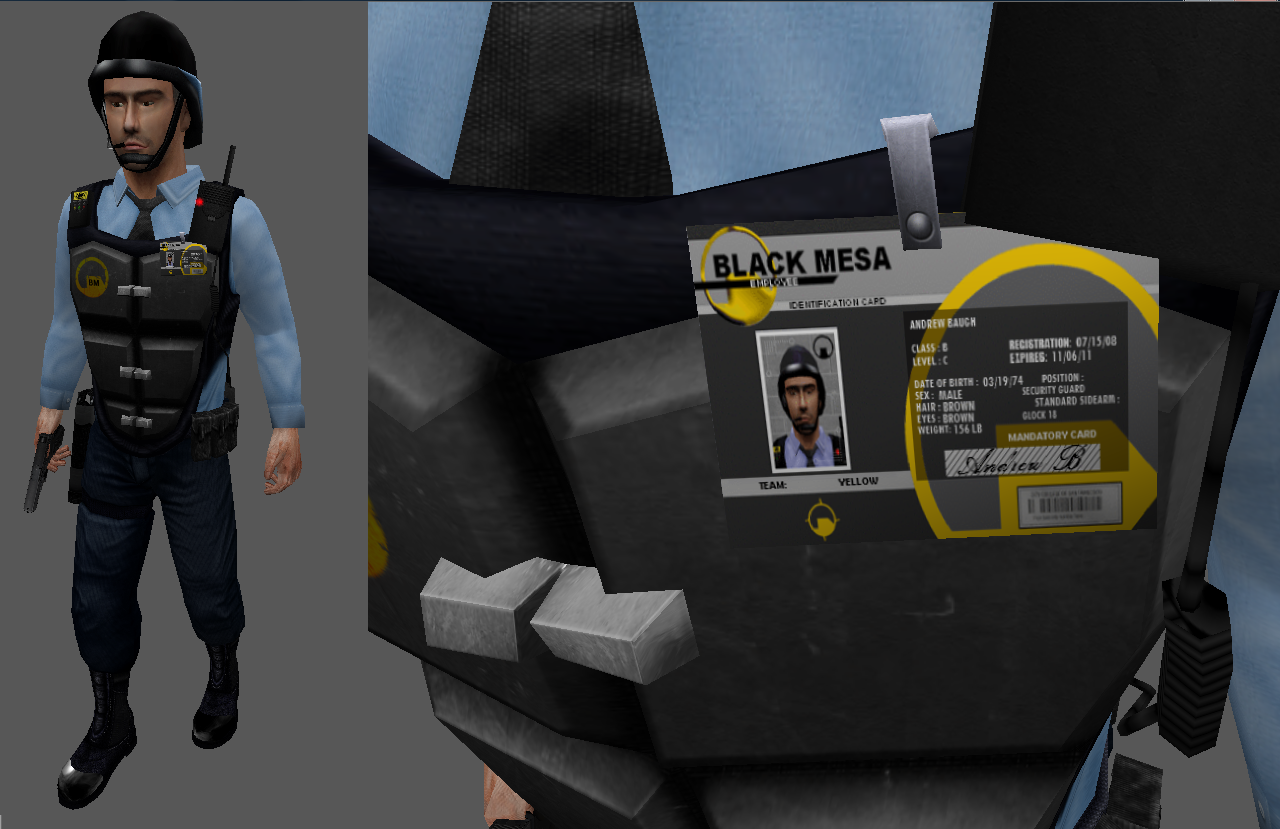 Black Mesa Security Forces Image Half Life Revisioned