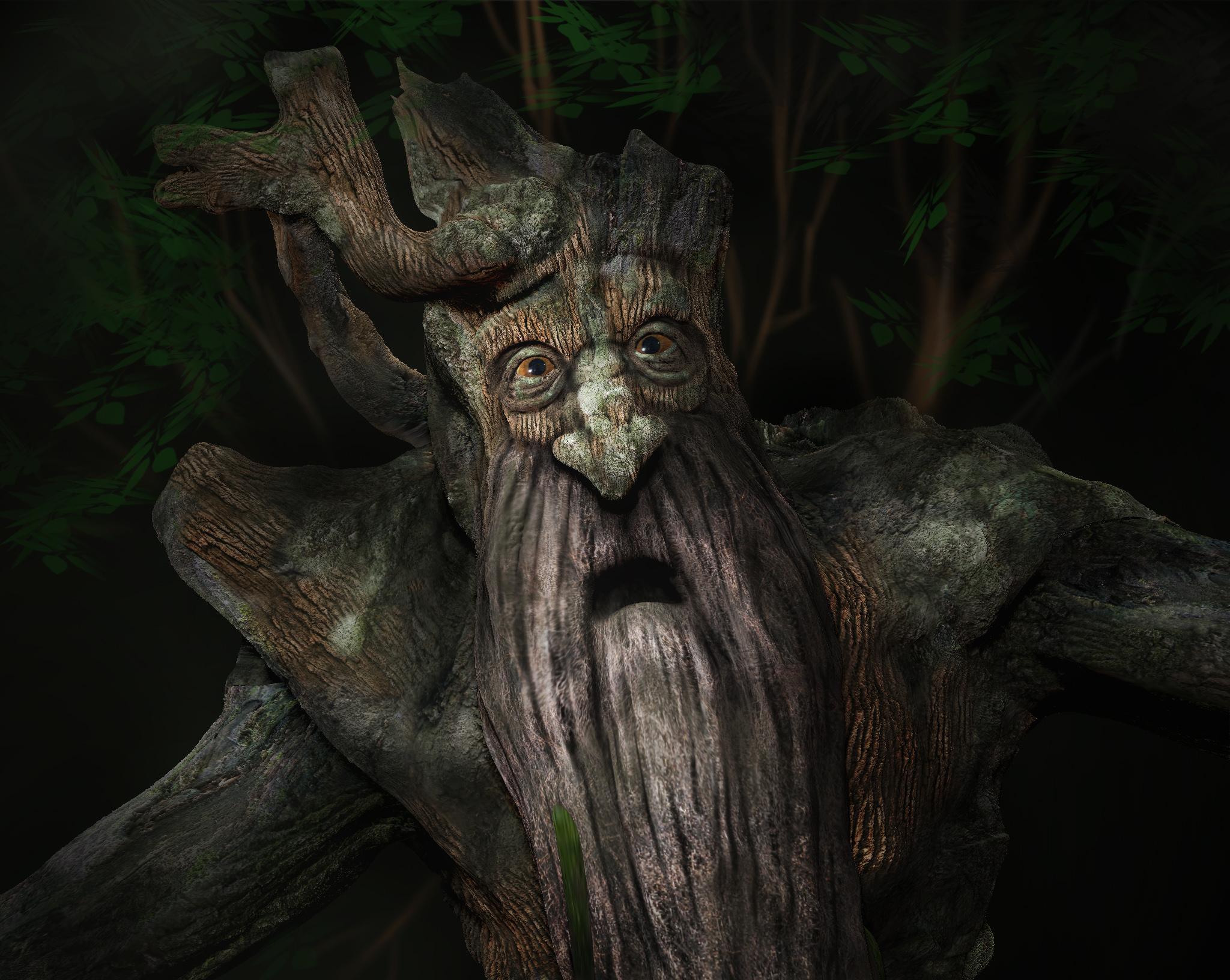 дерево из властелина колец фото яркого цвета