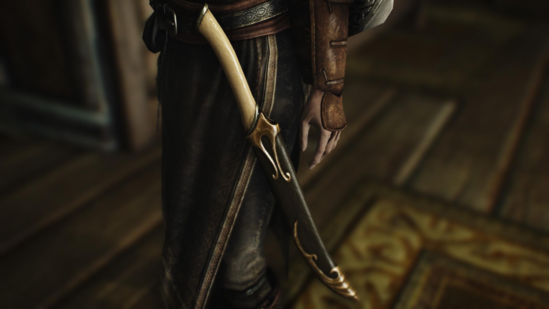 skyrim elven weapons mod