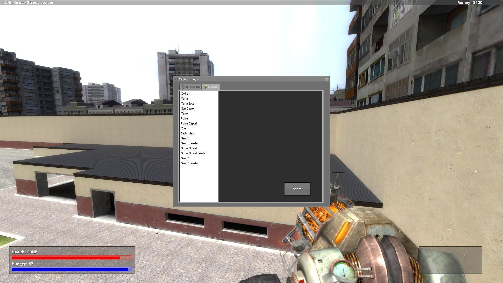 HUD changes, Hunger system added image - Twig RP mod for