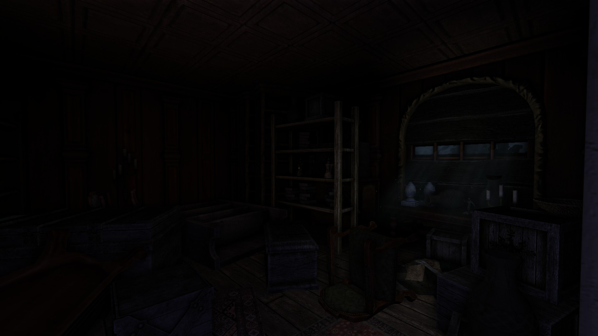 Dark Bedroom At Night Messy Room Image  Black Forest Castle V2 Mod For Amnesia The