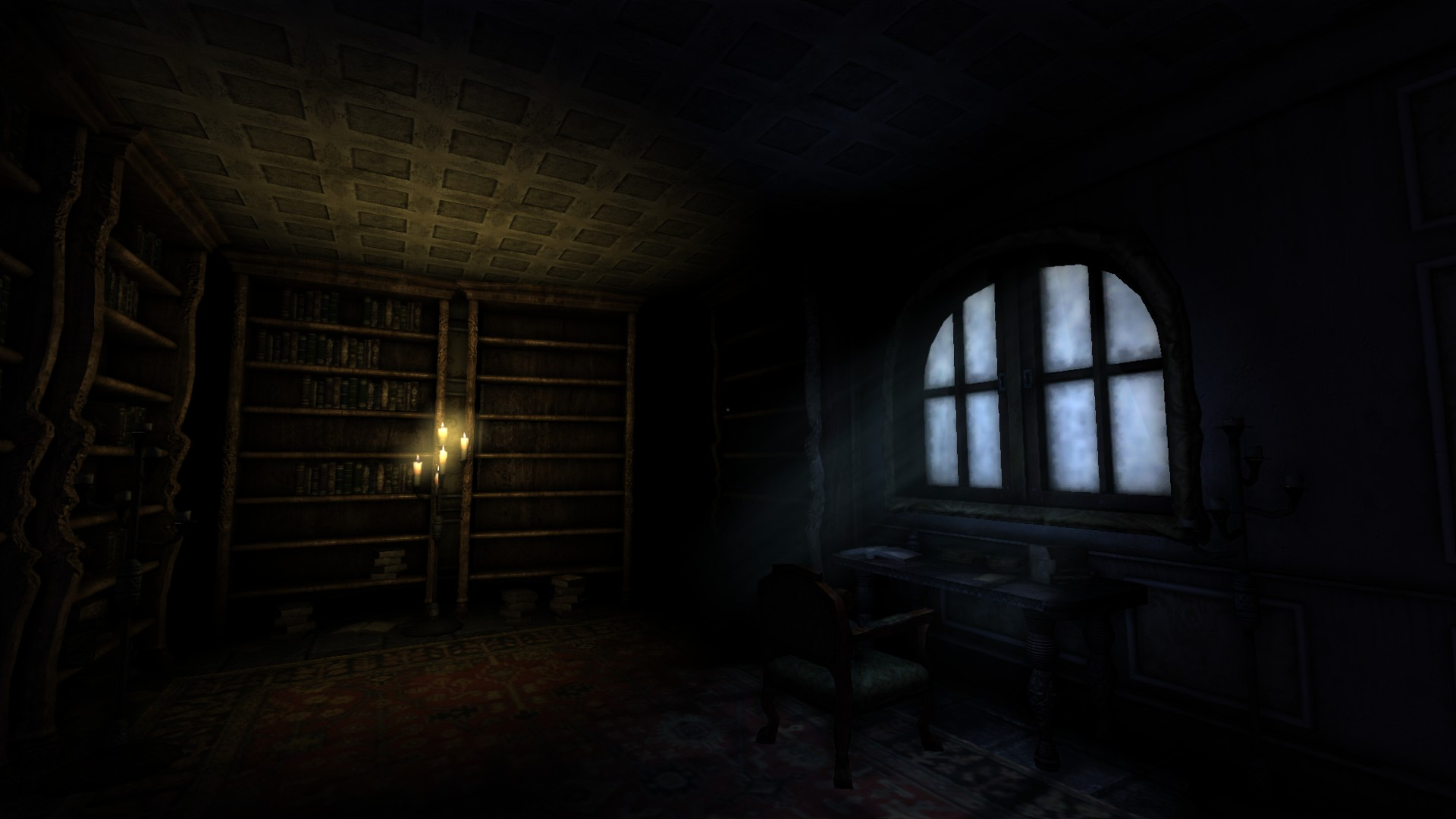 Dimly Lit Study Image Black Forest Castle V2 Mod For