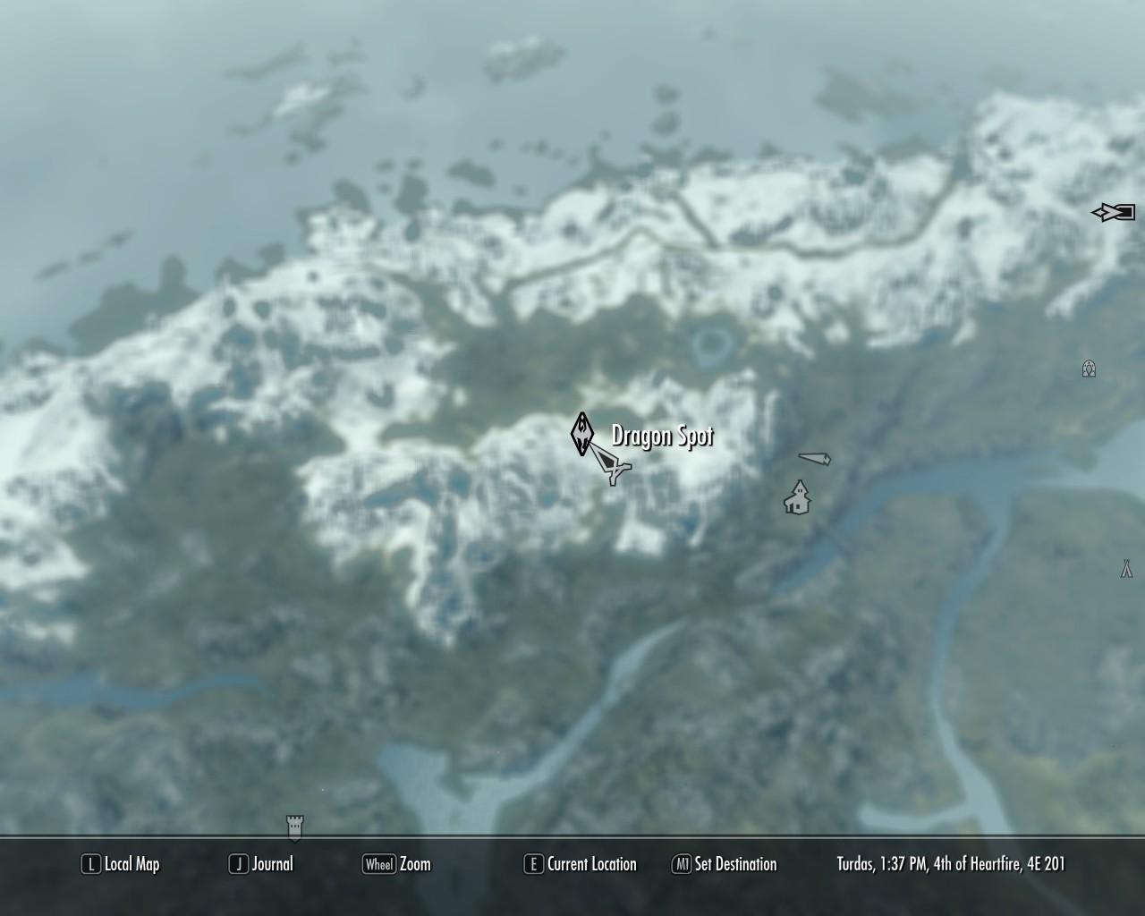 Dragon Spot on the map image - Asylum for Destiny mod for Elder ...