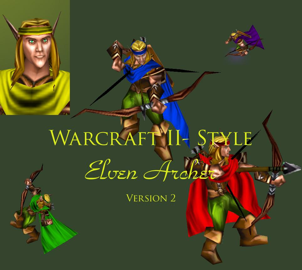 New Elven Archer Model Image Warcraft 2 5 Mod For Warcraft Iii Frozen Throne Mod Db