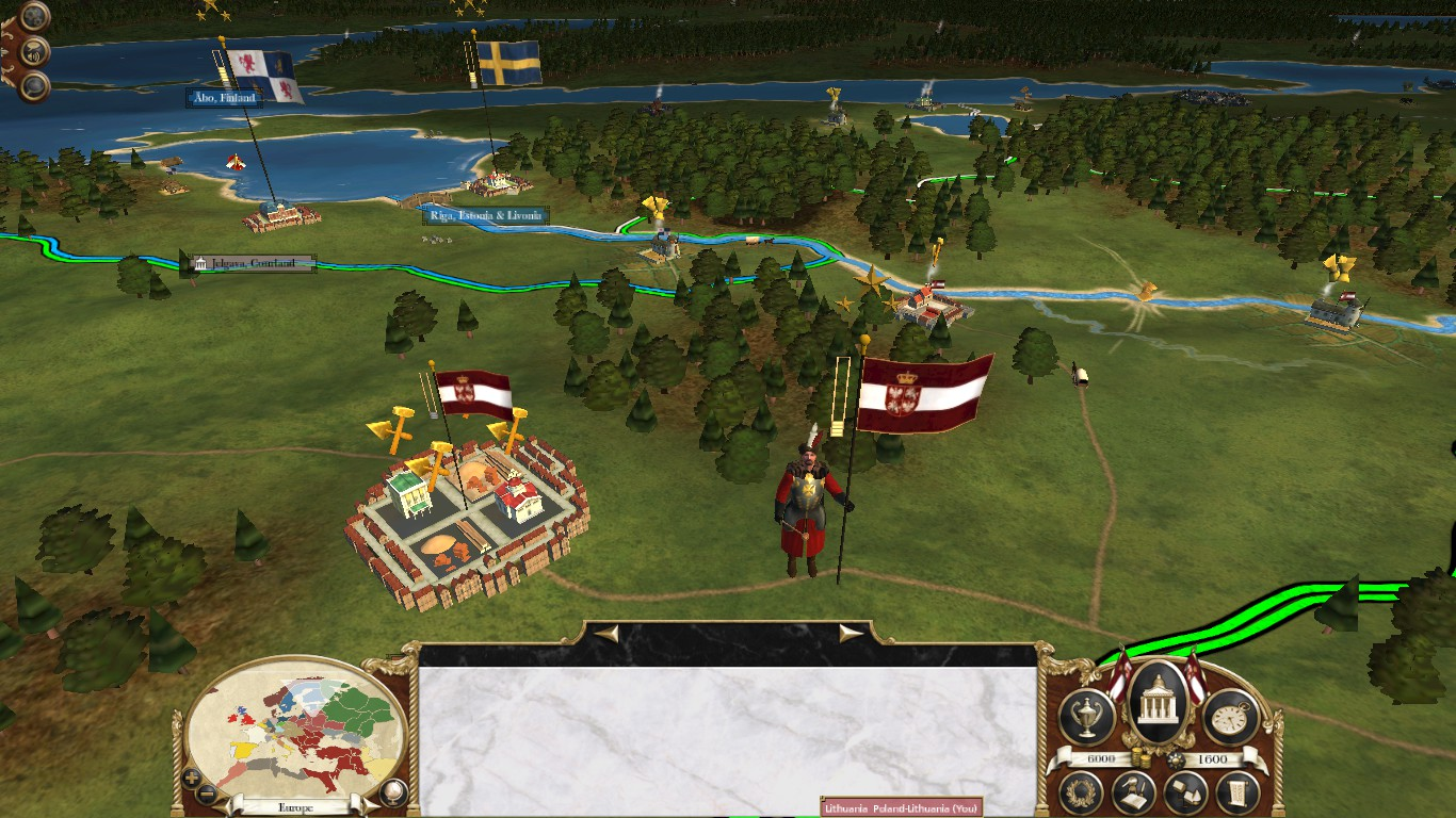 Polish Generals campaign map model, Colonialism 1600AD, Empire Total War mod