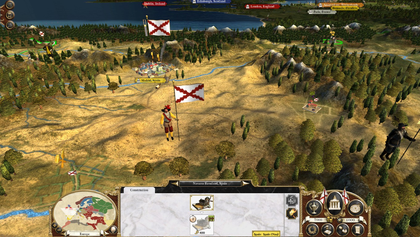 New Campaign Map Models, Colonialism 1600AD, Empire Total War mod