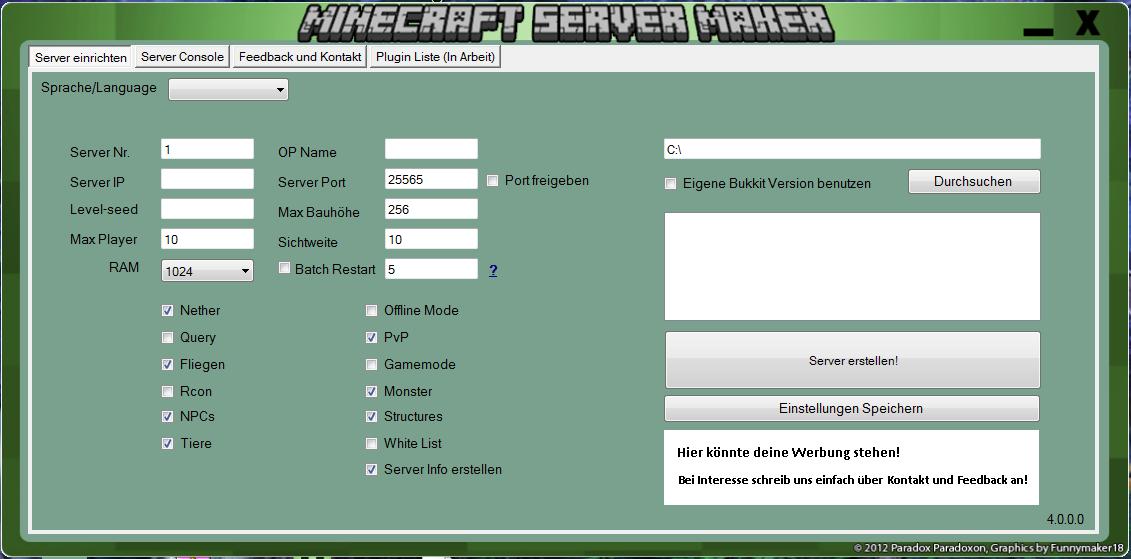 Minecraft Server Creating New Properties