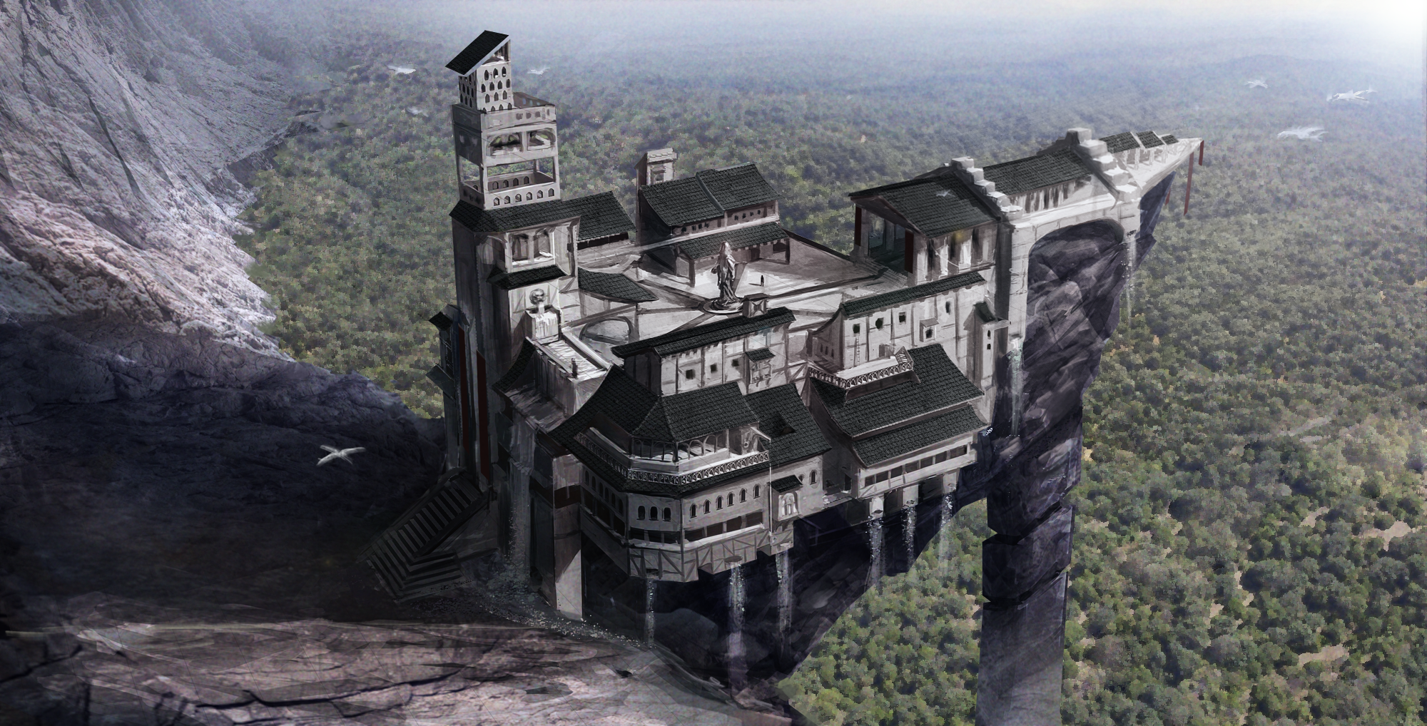 The Sun Temple Illustration Image Enderal Mod For