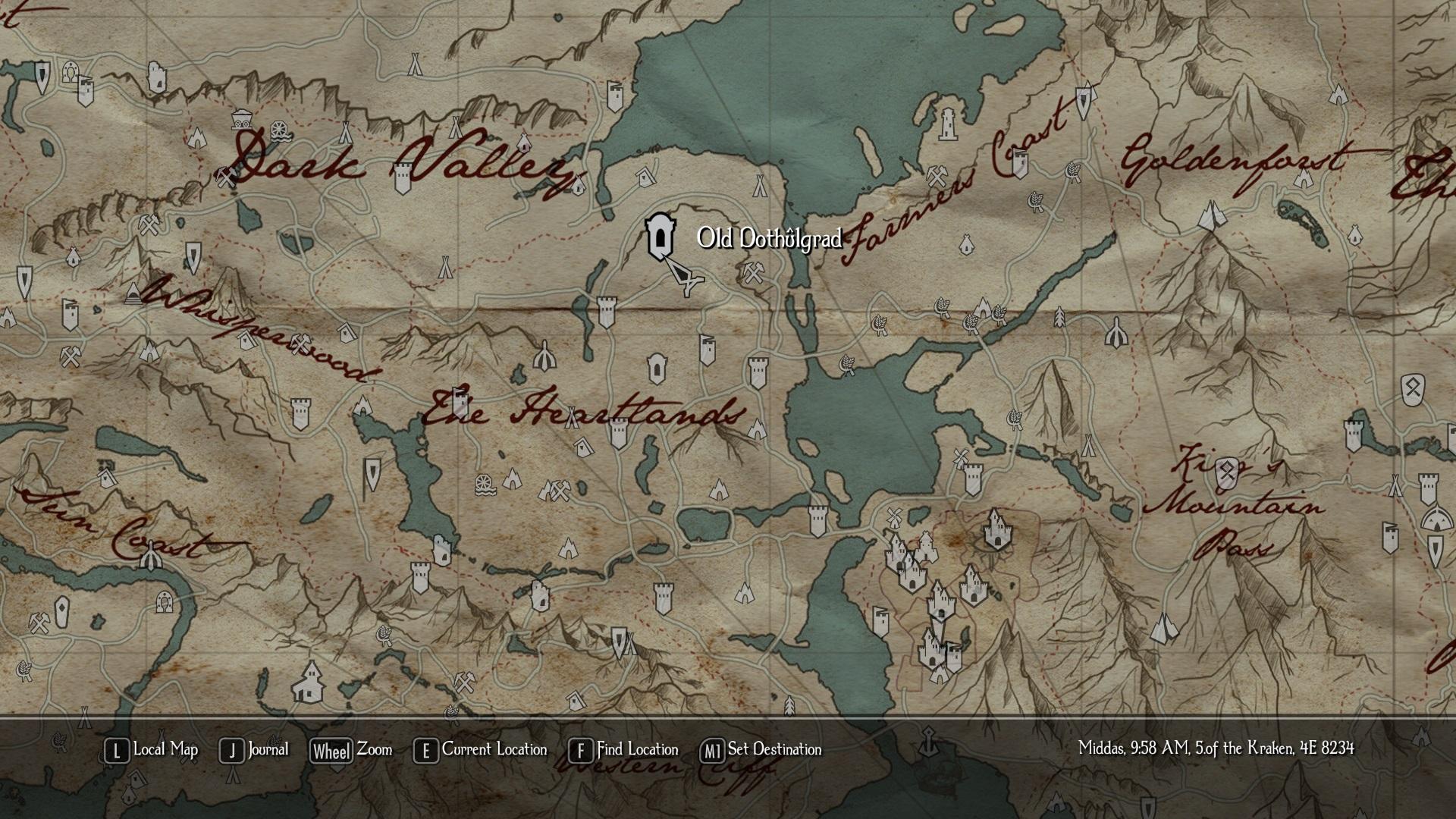 Ingame Paper Map image - Enderal mod for Elder Scrolls V: Skyrim ...