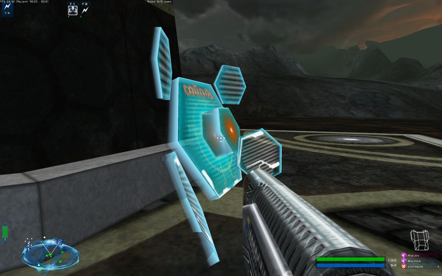 Testing the aenean guntower image bz2 community project for Battlezone 2