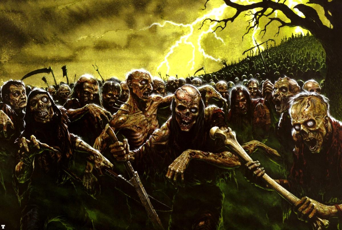 Zombie Horde Art Apocalypse on C...