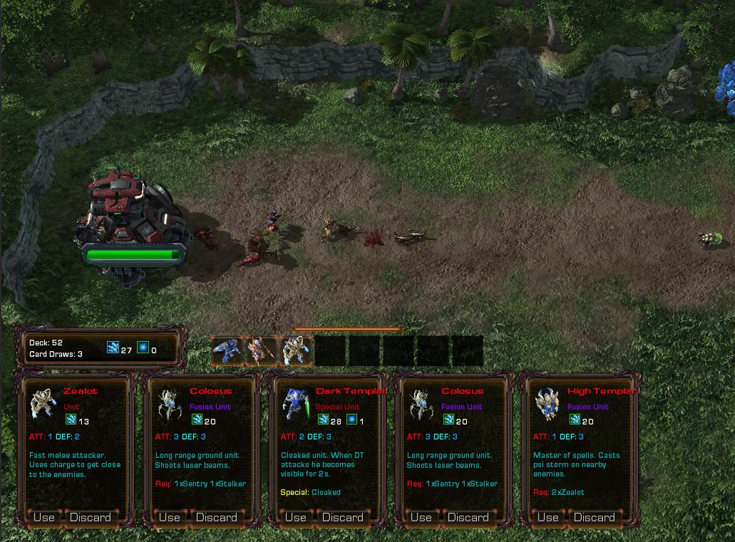 card warriors mod for starcraft ii  wings of liberty