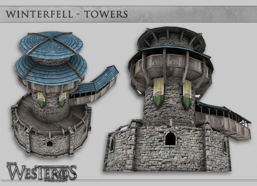 Windhelm detail. Cities were rather challenging. Some have empty spaces  inaccessible to the player, so details had to be extrapolated and hinted at.
