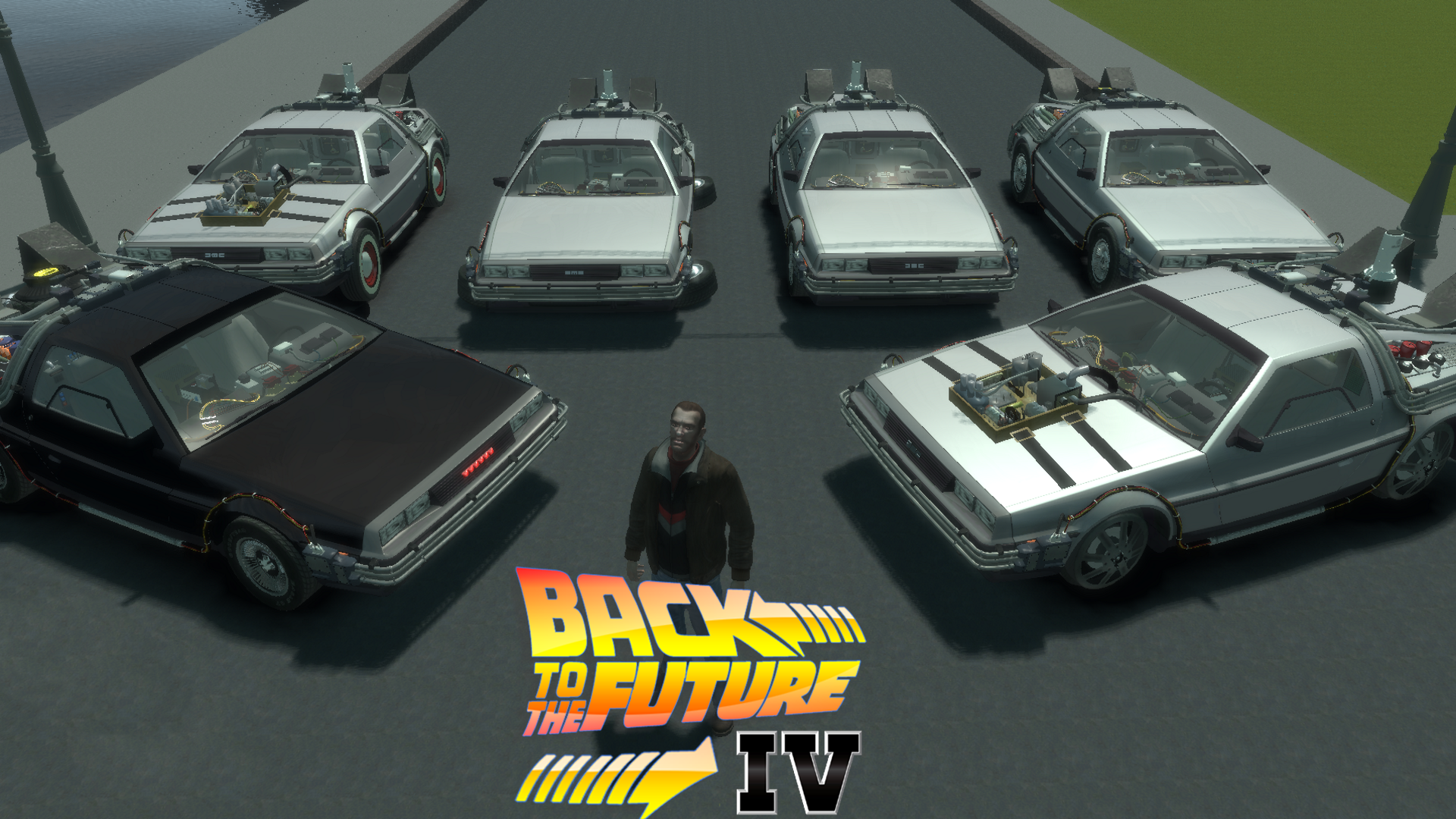 cool btlc wallpaper (1080p) all deloreans image - back to the future