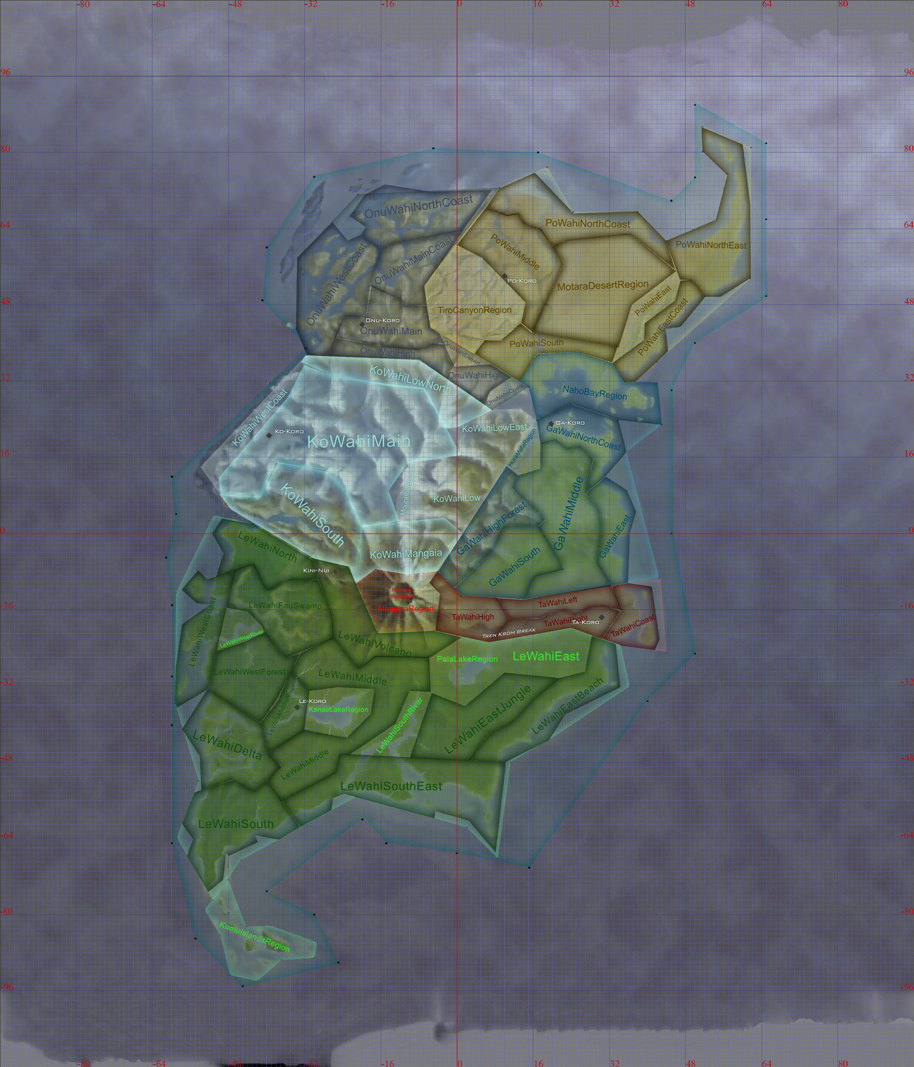 Mata Nui Regions Map Image
