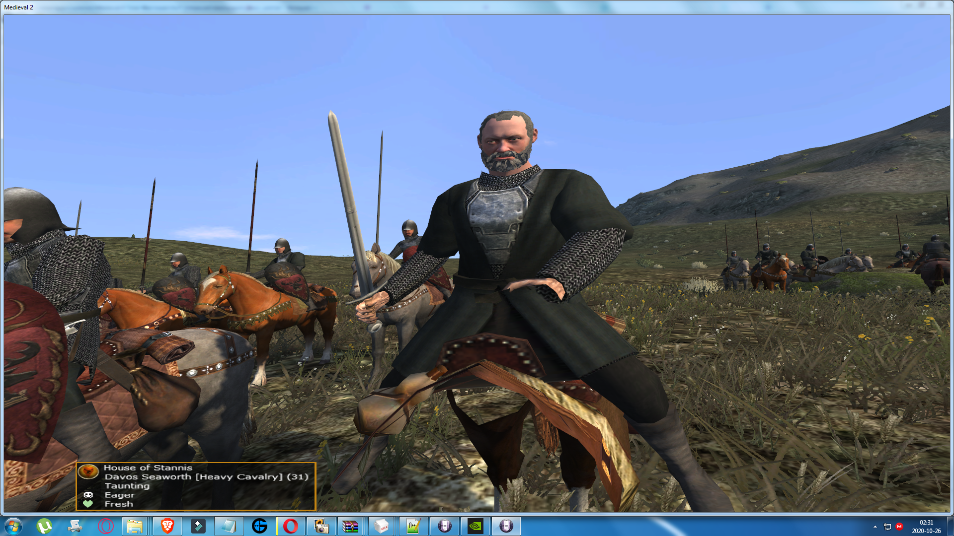 Sir Davos Seaworth has been added as a new custom hero!