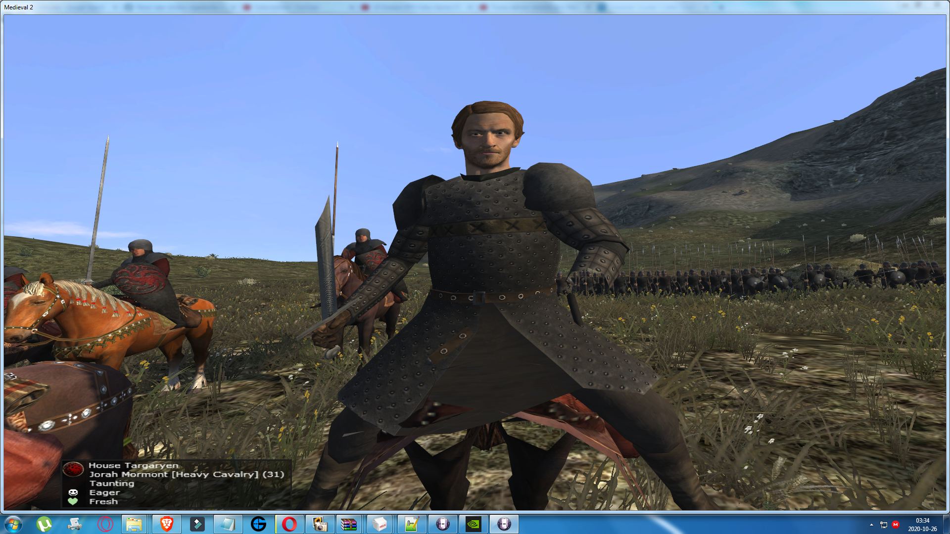 Sir Jorah Mormont has been added as a new hero to the mod!