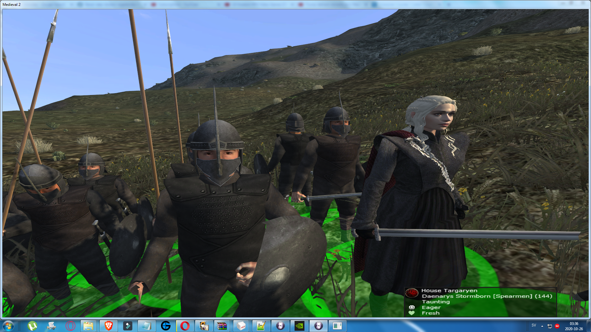 Daenarys Targaryen in the custom battles will be dismounted!