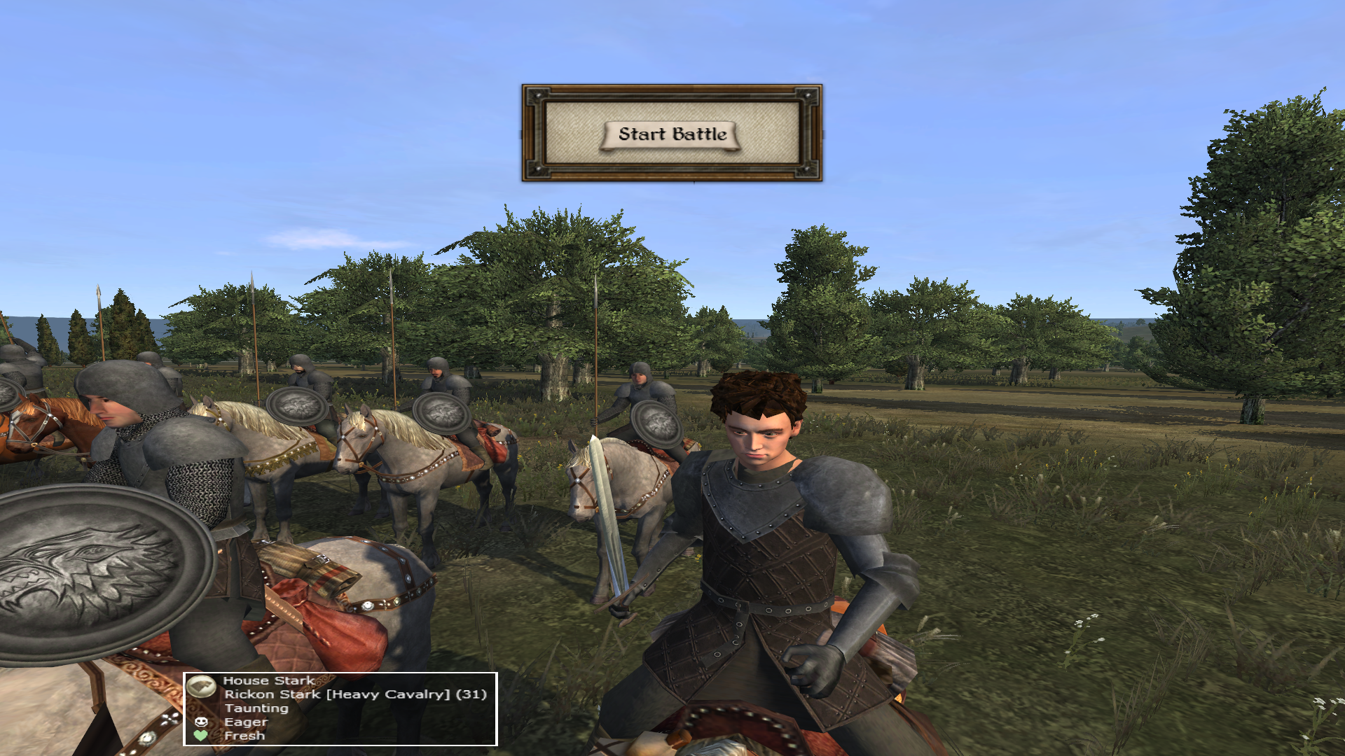 New Rickon Stark hero has been added to the mod.