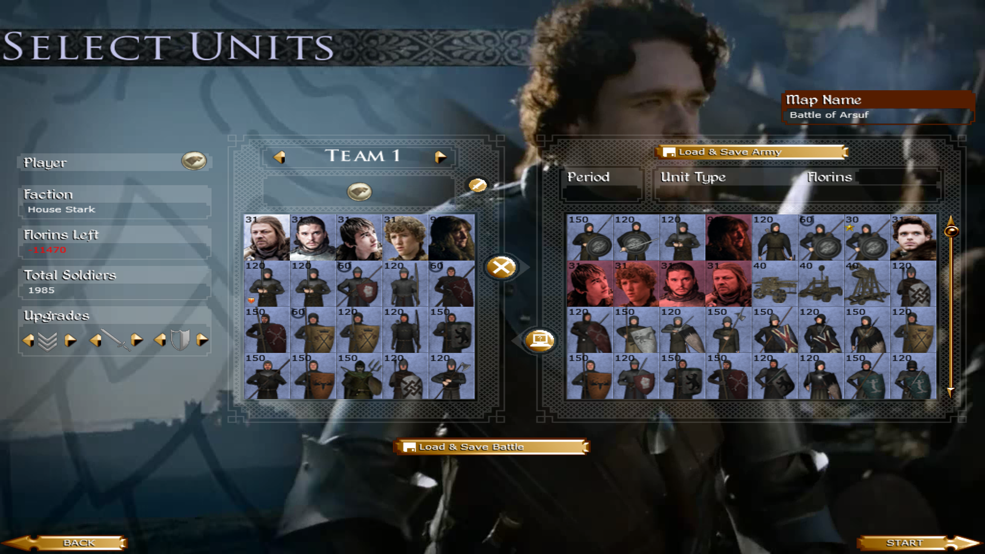 New House Stark units and minor house units!