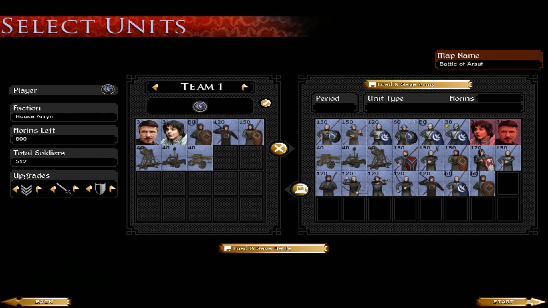 New House Arryn units!
