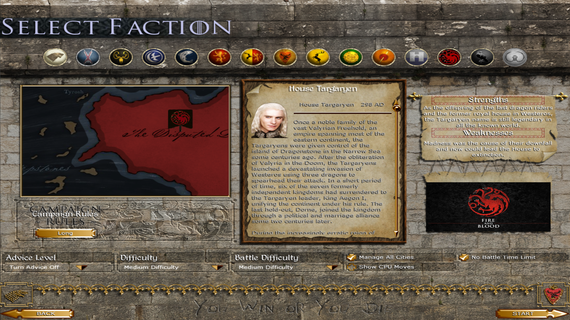 House Targaryen new selection screen!