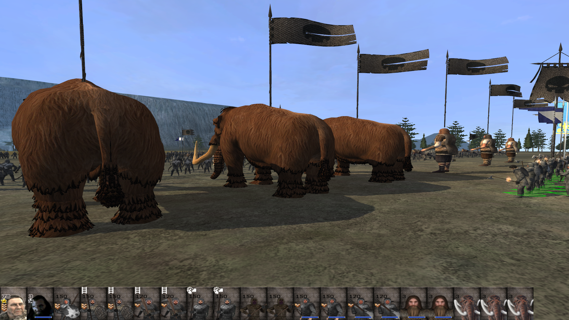 Wun-Wun and the other giants and mammoths now spawn!