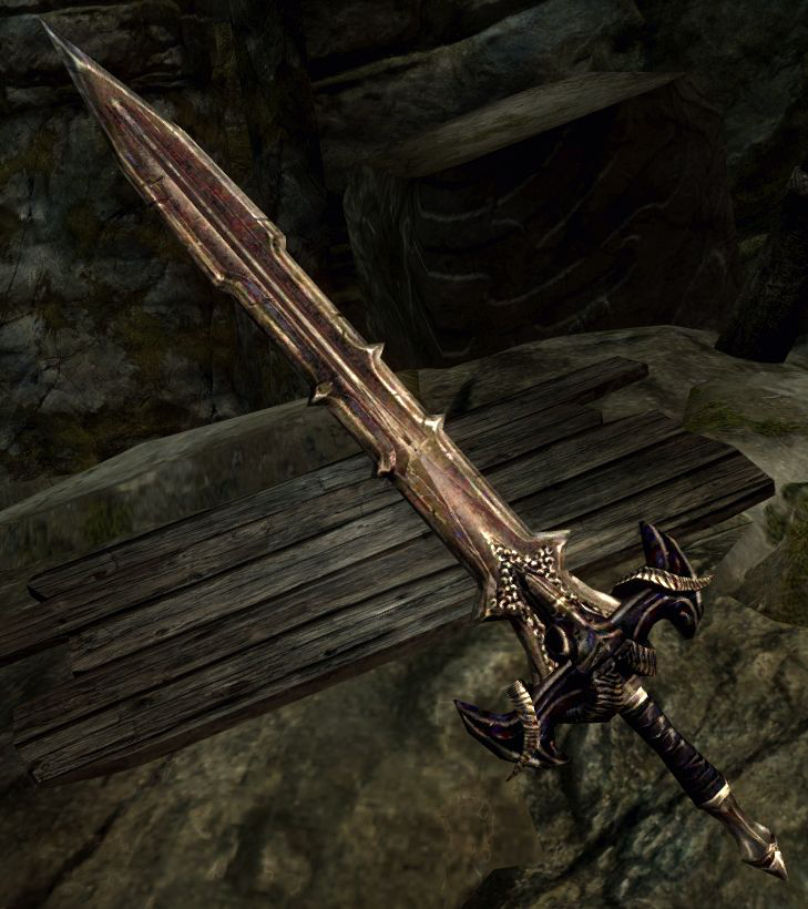 Daedric sword image skymomod v12 mod for the elder scrolls v skyrim