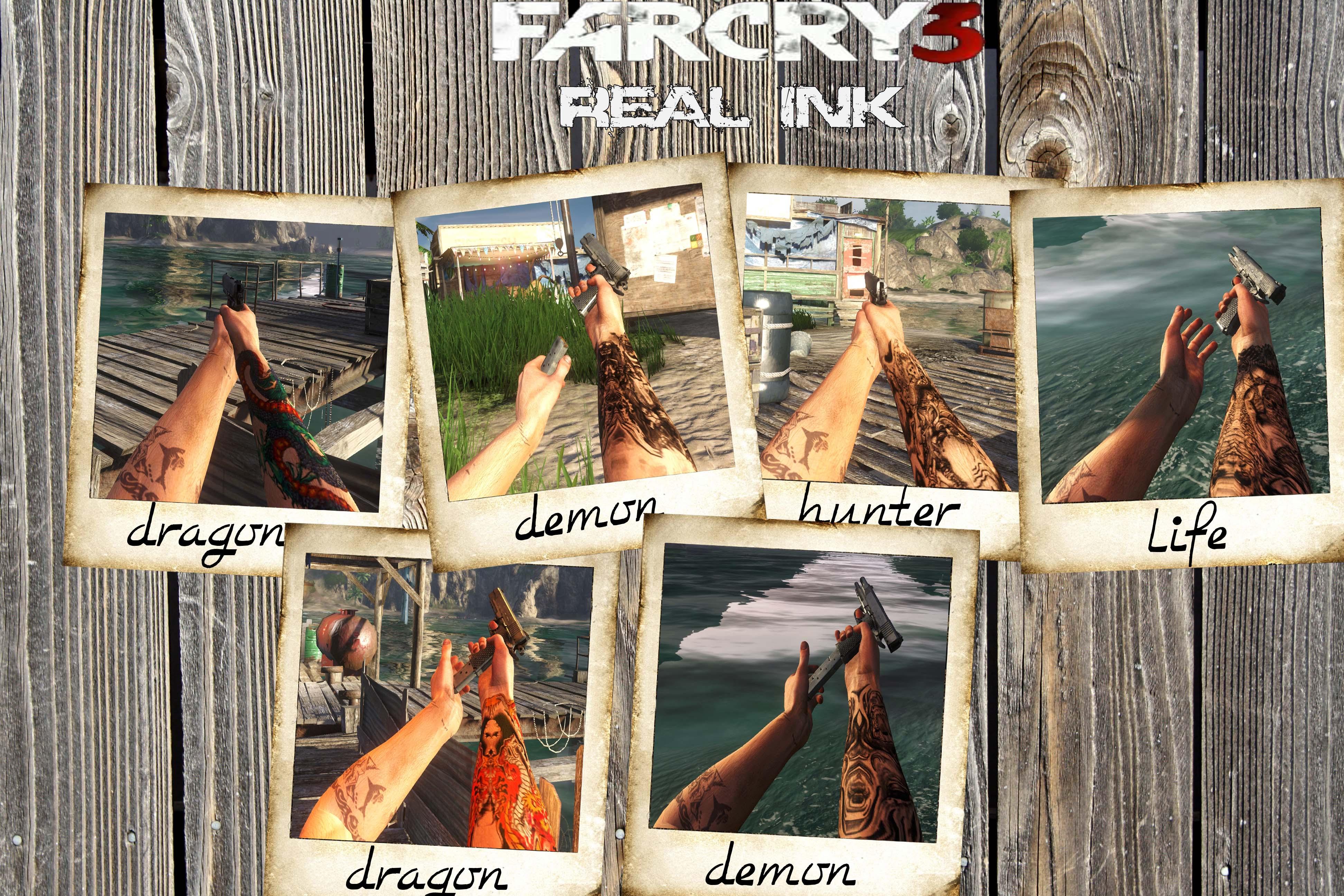 Real ink mod for Far Cry 38 - Mod DB - Far Cry 3 Tattoo