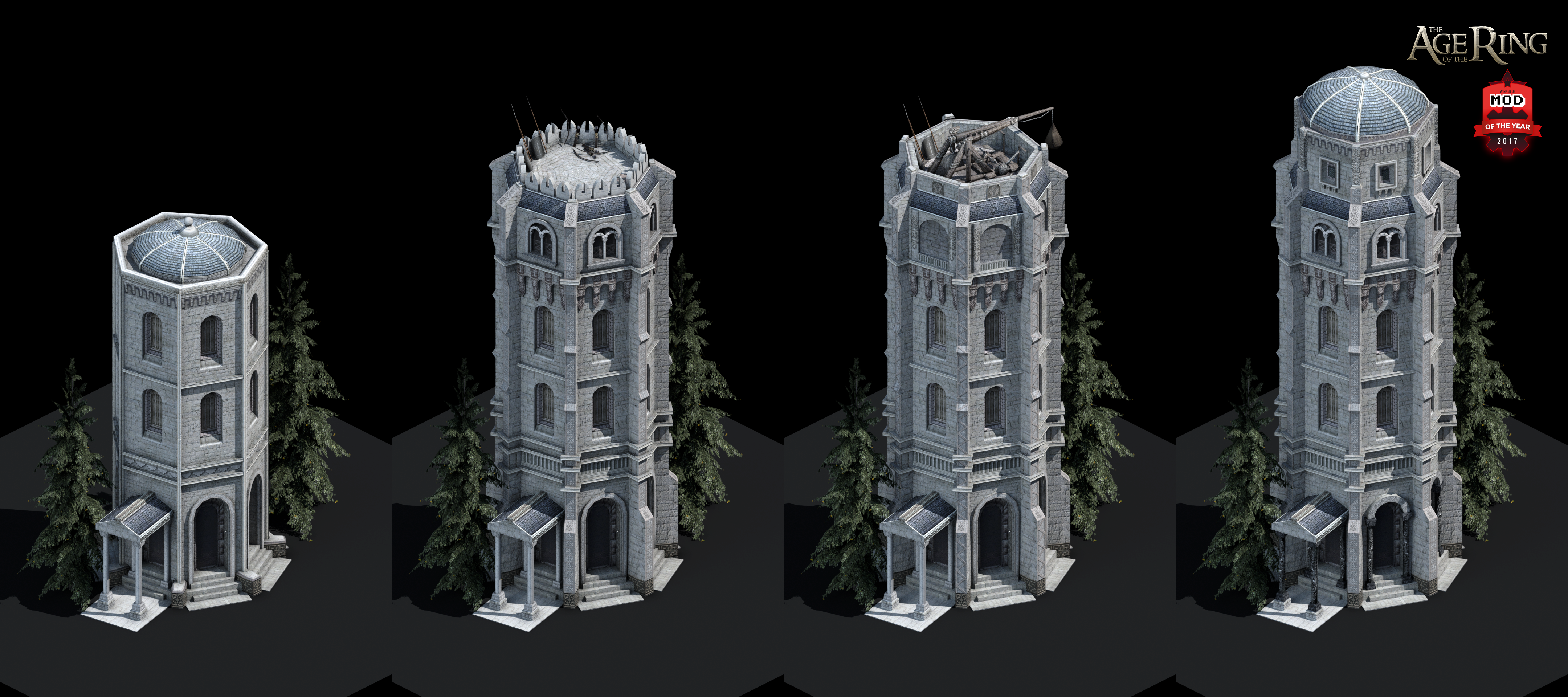 Gondor Civilian Towers Age Of Empires Ii Image Age Of