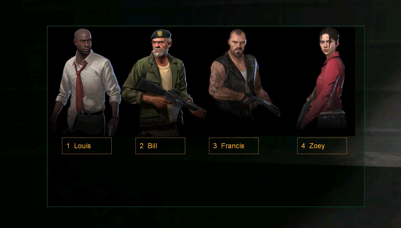 Vgui Class Menu Test image - Left 4 Life mod for Half-Life