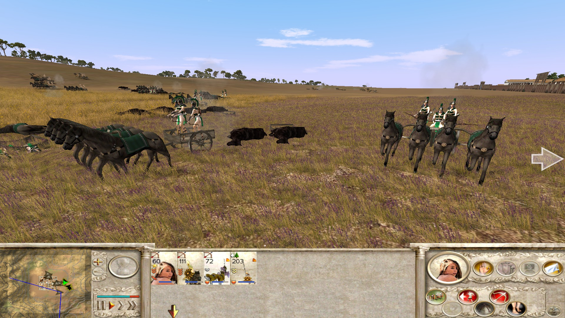 rome total war how to use chariots