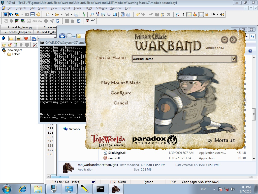 mount and blade warband how to put money in treasury