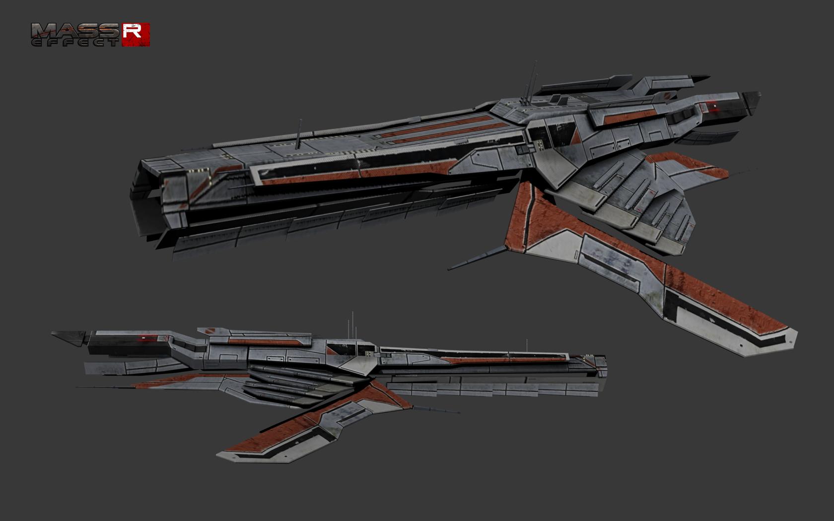 Turian Cruiser V2 Image Classic Mass Effect Reborn Mod For
