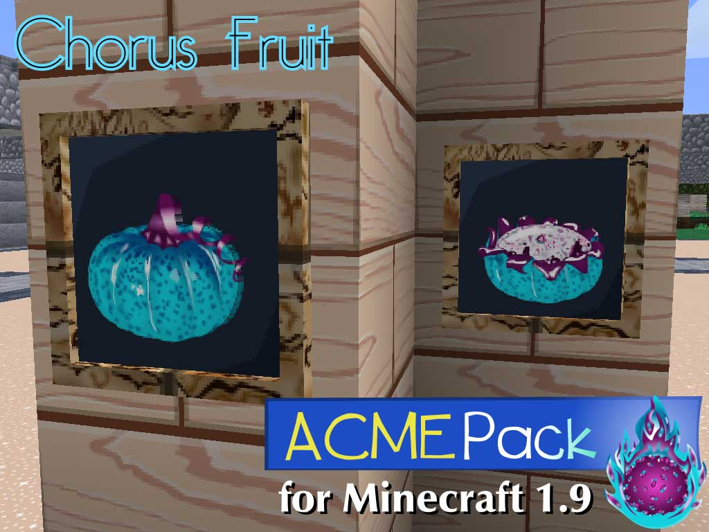 Chorus Fruit Image Acme Pack For Minecraft Mod For Minecraft Mod Db The chorus fruit was added to minecraft in the combat update in february 2016. acme pack for minecraft mod