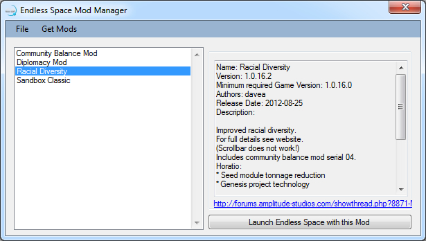 Endless Space Mod Manager - Mod DB