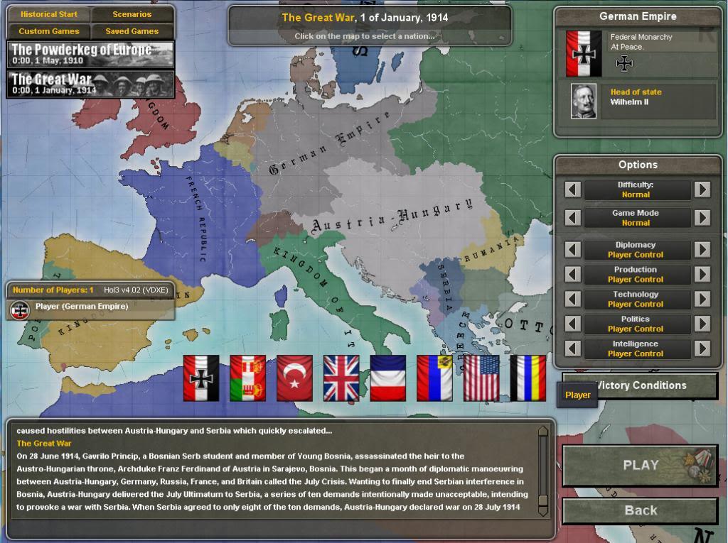 WW1 Mod for Hearts of Iron 3: TFH - Mod DB