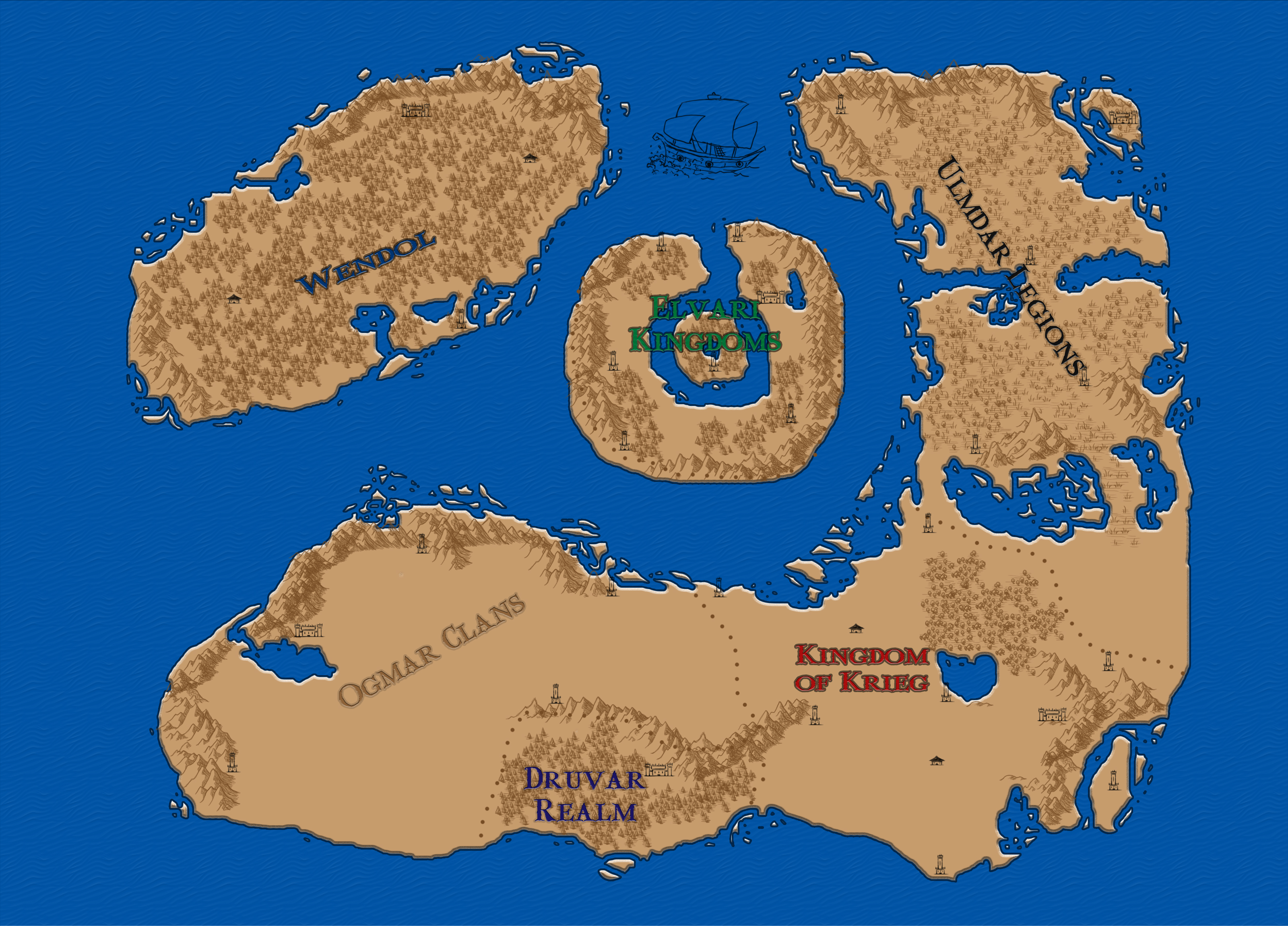 Bigger and more improved map WIP image   World Of Fantasy Battles