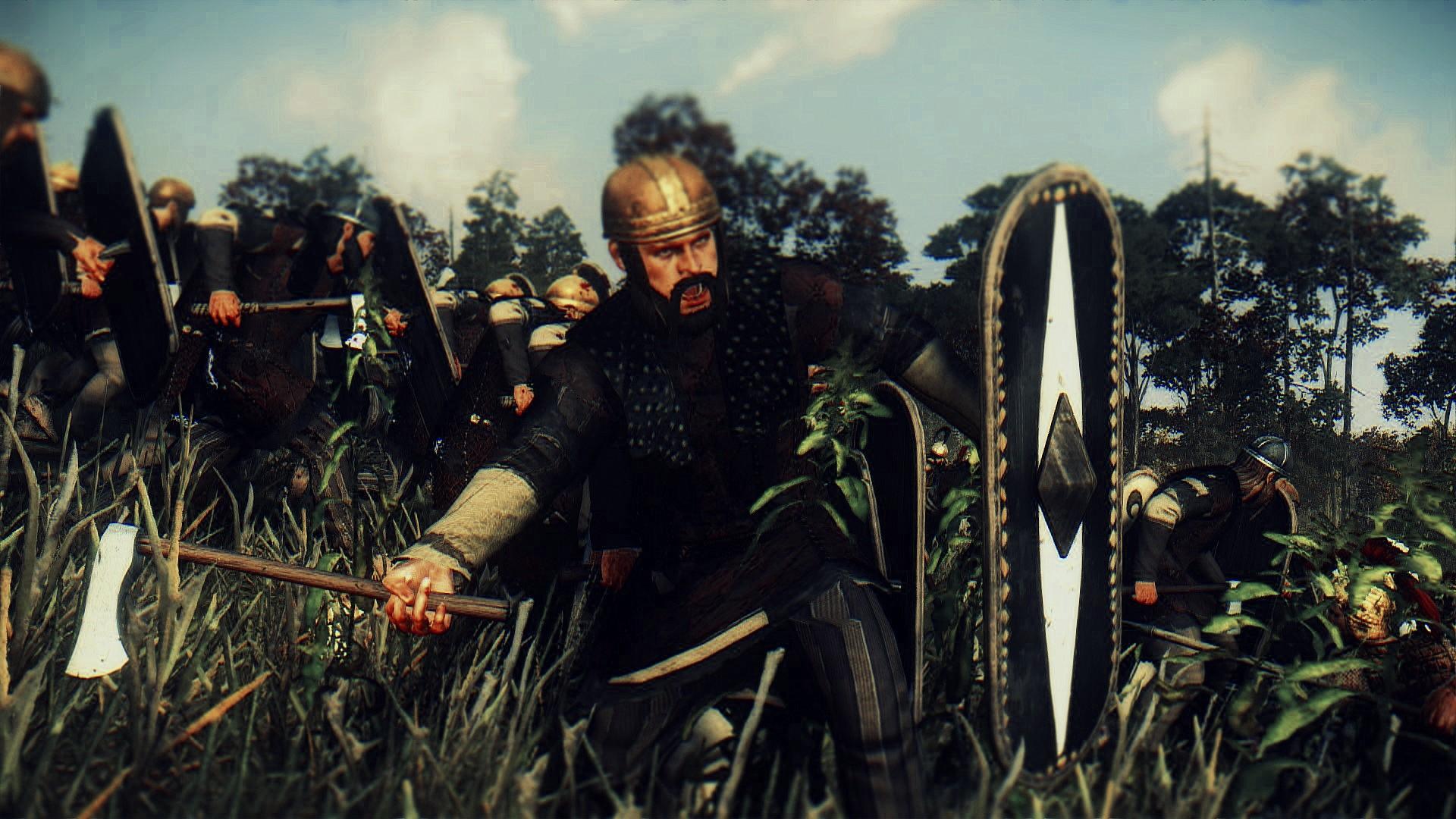 Germanic Warrior Germanic Axe Warriors ...