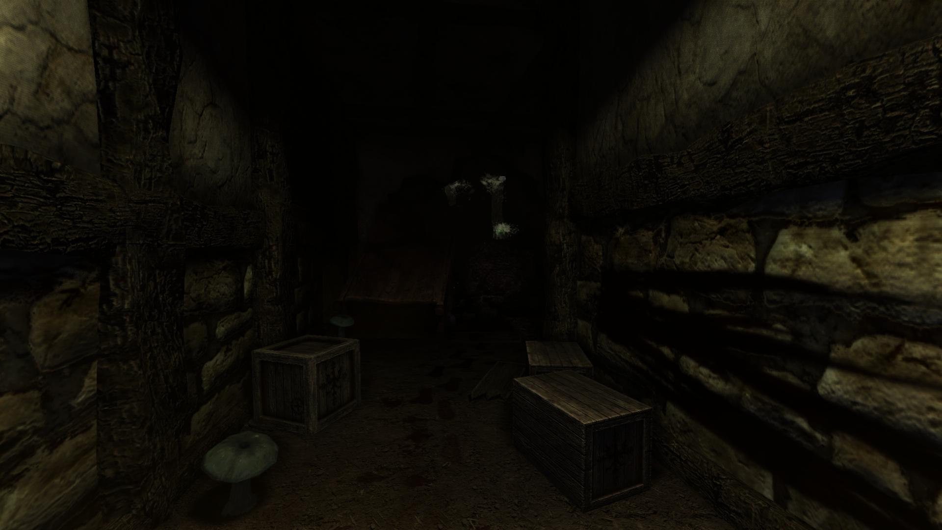 Creepy Mysterious Footsteps Image Premonition  A Full - Dark creepy basement