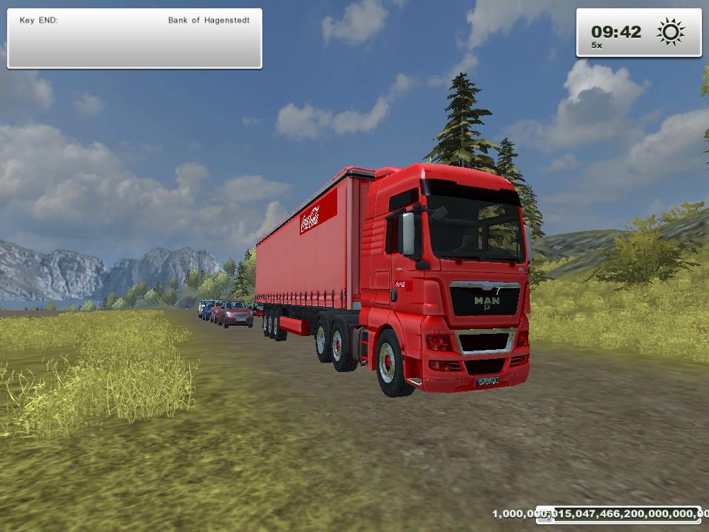 Coca cola truck and trailer mod for Farming Simulator 2013