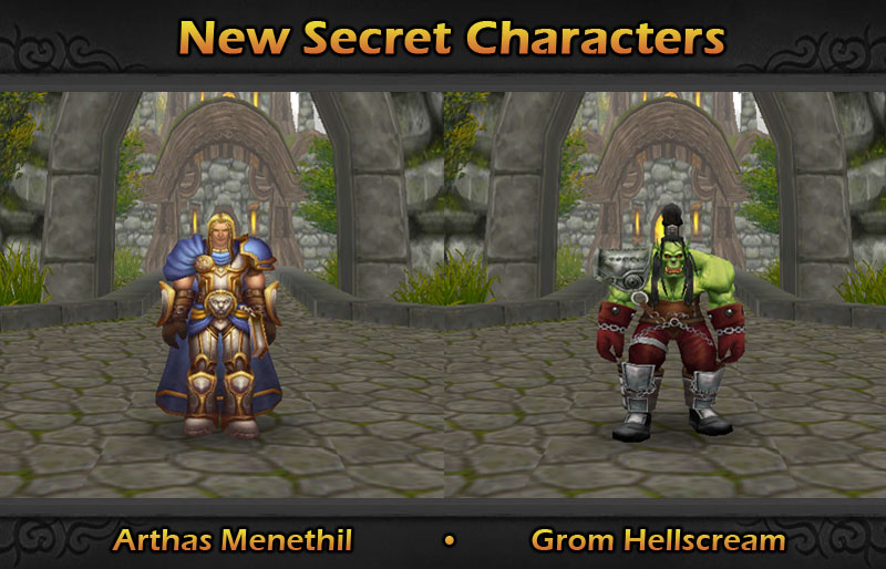 New Secret Characters Grom And Arthas Image World Of Warcraft