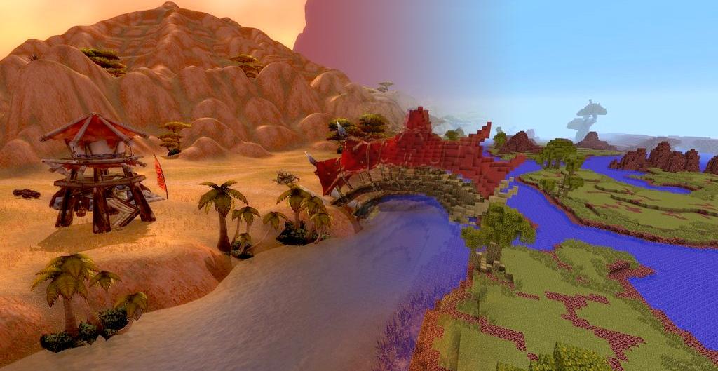 The map image Crafting Azeroth Australia mod for Minecraft Mod DB – Map World of Warcraft Minecraft