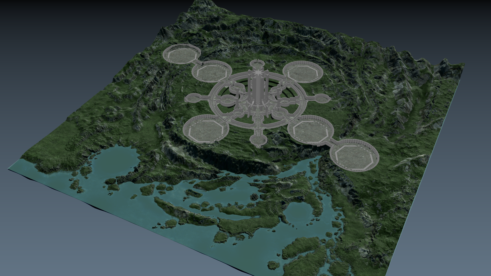 Map concepting in 3D #3 image - Lost Dragons mod for ARMA 3 - Mod DB