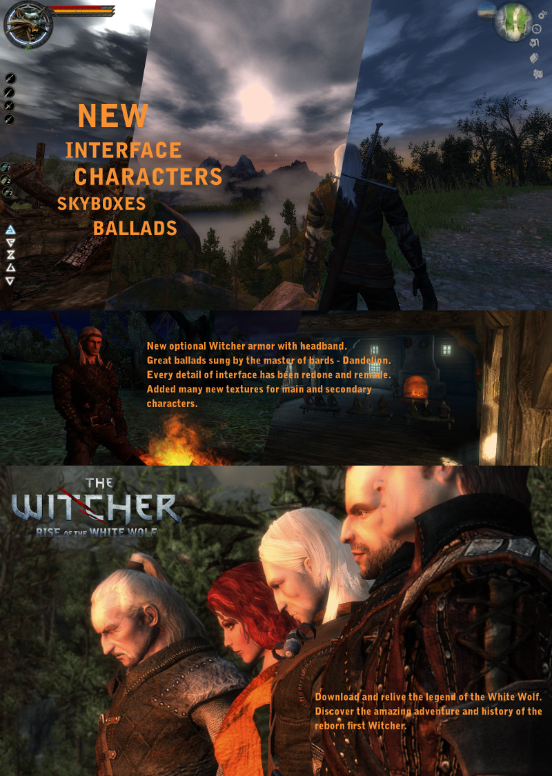 The Rise of the White Wolf Enhanced Edition mod for The Witcher - Mod DB