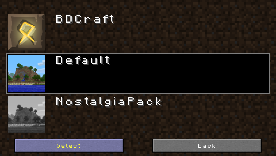 Finished texture pack system image - Minecraft PSP 2 0 [Release] mod